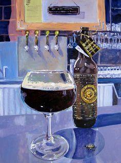 Beer Art Print of Rare M Belgian Style Barley Wine $55.00