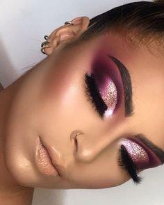 Glam Makeup Look, Makeup Eye Looks, Creative Makeup Looks, Gorgeous Makeup, Pretty Makeup, Love Makeup, Makeup Tips, Beauty Makeup, Hair Makeup