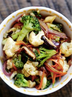 Vegetable Stir Fry with Broccoli, Carrots, and Cauliflower - The Keto Diet Recipe Cafe