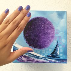 Mini Purple Nautical Painting >> www.laelanielarach.com