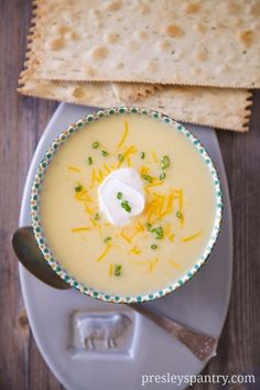 Loaded Mashed Potato Cheese Soup! - Presley's Pantry