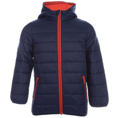 Harvey And Jones Boy's Harvey And Jones Poly Filled Jacket 2 Blue. Infant Boys Harvey And Jones Poly Filled Jacket in Navy Red-Elasticated cuffs-Zip pockets to sides-Zip fastening-Hooded-Comes with a carry bag for the jacket-Lightweight jacket-Branding to inner collar-Shoulder to hem 20 approximately-Outer: 100% Polyamide. Lining: 100% Polyamide. Insulation: 100% Polyester. Machine Washable-Ref:HJBPJKTMeasurements are intended for guidance only.