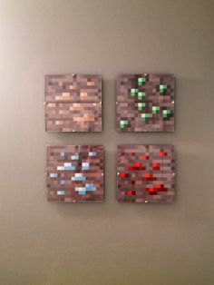Minecraft Wall Decorations 6 minecraft childrens bedroom wall hanging canvas pictures