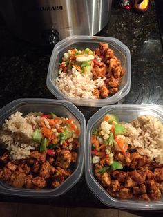 BBQ Chicken with rice and vegetables