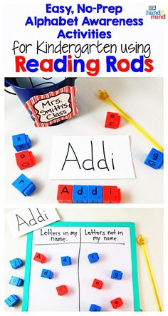 Reading Rods, Word Builders, Alphabet and Phonemic Awareness Linking Cubes for Early Reading & Word Work (Set of Small Group Activities, Spelling Activities, Kindergarten Activities, Auditory Learning, Learning Resources, Literacy Stations, Literacy Centers, Sentence Building, Reading Words