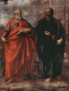 sacre arte st's peter and paul | Juan Fernandez de Navarrete - St. Peter and St. Paul