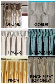 Pleated drape styles Christine Marie