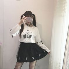 Spring Summer Japanese Soft Sister Style Short Or Long Sleeve Tops And High Waist Skirt Women Suit Fashion Print Pretty Skirts
