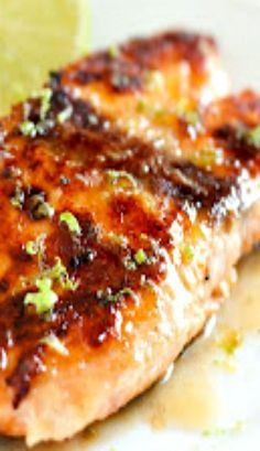 Pan Seared Honey Glazed Salmon with Brown Butter Lime Sauce