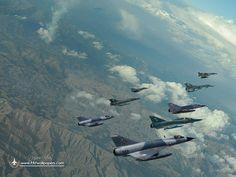 Echelon-1: Mirage-vPA (5 Sqn), Mirage-VEF (27 Sqn), Mirage-IIIEL (22 Sqn). Echelon-2 : Mirage-VPA3 (8 Sqn), Mirage-VEF (25 Sqn), Mirage-IIIEA (7 Sqn), Mirage-IIIDP (15 Sqn) and Mirage-IIIEA (CCS)
