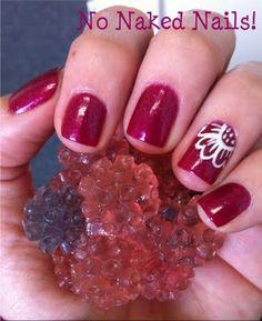 freehand flower nail art