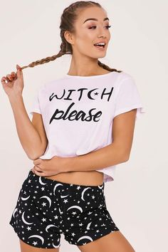 WITCH PLEASE PYJAMA SHORTS SET