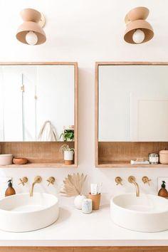 Midcentury modern double vanity