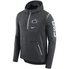 88c814198e4d07 Penn State Nittany Lions Nike Alpha Fly Rush Sideline Half-Zip Pullover  Jacket - Anthracite