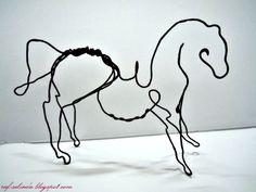 Rafselinda's Diary ♥: Wire Sculpture - Horse