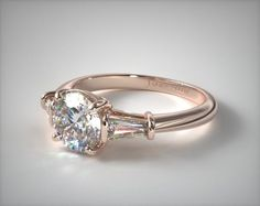 Kuvahaun tulos haulle rose gold halo ring with baguette