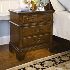 American Heritage 4 Drawer Nightstand