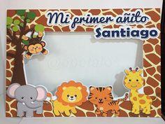 Marco de Safari Talla M #safari para Santiago quien celebra su PrimerAñito #Santiago #SantiagoCentro #Chile #personalizados Jungle Theme Birthday, Ideas Para, Dip, Baby Shower, Selfie, Party, Vestidos, Woodland Party, Superhero Birthday Party