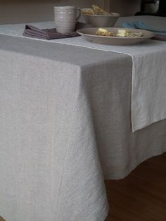 Natural Linen Tablecloth Lara - LinenMe on Kitchen Goddess