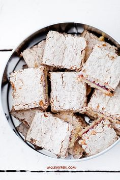 coconut shortbread with raspberry jam