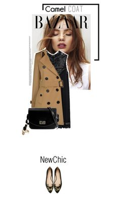 """""""Newchic"""" by s-thinks ❤ liked on Polyvore featuring Burberry, Kate Spade and camelcoat"""