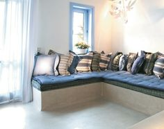 Greek Decor Style in White and Blue at Mykonos Blue Resort