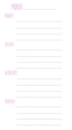 Personal weekly insert by Hurryupandplan on Etsy