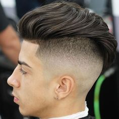 Haircuts For Teens - Bald Fade with Long Wavy Hair(don't want a haircut like that, but I do want the hair)