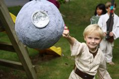The coolest Star Wars party ideas for kids, like this Death Star pinata | Photo credit Christina Refford