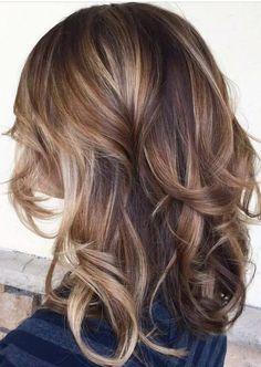 Brown, Caramel, Blonde, Balayage Hair