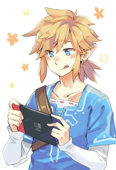 The Legend of Zelda Breath of the Wild Link with a Nintendo Switch nintendo http://xboxpsp.com/ppost/27936460170513765/