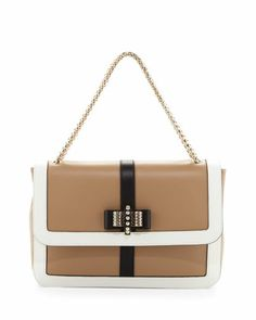 Sweet Charity Large Shoulder Bag, Beige/White by Christian Louboutin at Neiman Marcus.