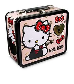 Hello Kitty Lock And Key Lunch Box