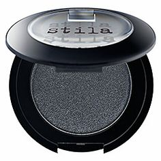 Used wet, this is the purrfect liner for a cat eye line!  Stila - Eye Shadow in Black Cat - shimmering black  #sephora