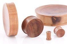 SABA Solid Wood Plug - Organic Body Jewelry 4mm up to 51mm - Price Per 1 :: Plugs Body Jewelry :: Painful Pleasures, Inc.