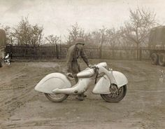 """The Killinger und Freund Motorrad was intended for civilian production but the start of World War II cancelled those plans. One motorcycle was discovered by the US Army in the spring of 1945 at a German military installation but it is not known if this was the original prototype or another Killinger und Freund Motorrad"""