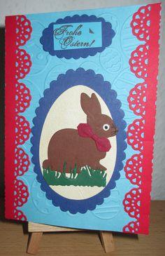 Osterkarte mit Neuer Hasenstanze.Habe nur die schleife falsch gemacht. Kids Rugs, Home Decor, Bow, Hare, Crafts, Easter, Homemade Home Decor, Kid Friendly Rugs, Decoration Home