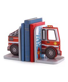 Look at this KidKraft Fire Truck Bookend Set on today!