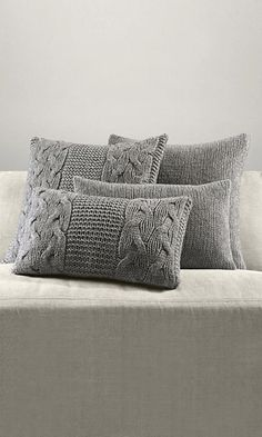Want these knit pillows for our bed! ~P