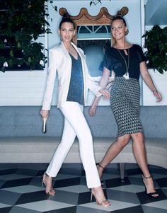 A white blazer with a borrowed-from-the-boys vibe is a holiday wardrobe essential