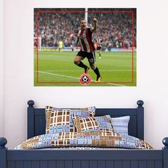 Official Licensed Football & Entertainment Wall Stickers - Sheffield United Bedroom Football Gifts - The Beautiful Game Sheffield United Football, Sheffield United Fc, Mural Wall, Wall Art, Football Bedroom, Bedroom Furniture, Bedroom Decor, Entertainment Wall, Football Stickers