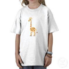 Funny Primitive Art Giraffe T Shirts #giraffes #funny #shirts #animals #art #primitive #zazzle #petspower