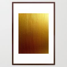 Gold Ombre by HMSinTO  FRAMED ART PRINT / CONSERVATION WALNUT LARGE (GALLERY) (26 X 38) $152.00