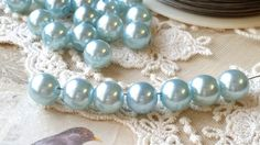 50 Pieces of 10 mm Light Blue Colour Acrylic by CarmanTreasures