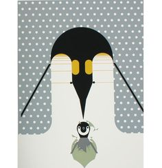 'Brrrrthday Penguin' by Charles Harper #Illustration #Charles_Harper
