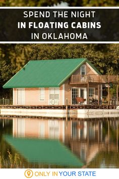 Spend the night in a cozy floating cabin on Lake Murray in Oklahoma. These cabins offer beautiful waterfront views from their private decks and balconies. Perfect for a romantic getaway or summer staycation with the family, you'll love the blue water, central air, and amenities like full kitchens.