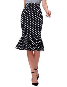 Polka Dot High Waist Vintage Mermaid Midi Skirt   -      -   Skirts, www.looklovelust.com   -   3  https://www.looklovelust.com/products/polka-dot-high-waist-vintage-mermaid-midi-skirt