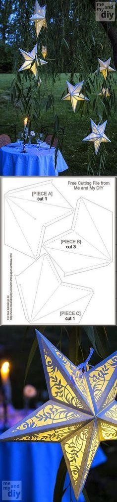 Tutoriales y DIYs: Patrón - Estrella de papel