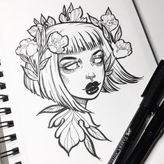 sketches drawings drawing creative cool sketch tattoo inktober ink tattoos flowers painting inspo journal
