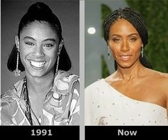 Celebrity Jada Pinkett Smith Then and Now Plastic surgery before and after . Plastic Surgery Before After, Plastic Surgery Gone Wrong, Celebrities Before And After, Celebrities Then And Now, Jada Pinkett Smith, Nada Personal, Celebrity Plastic Surgery, Under The Knife, Stars Then And Now
